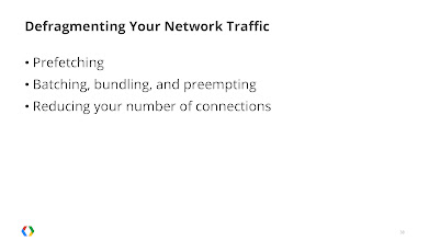 Photo: Improve your battery life by defragmenting your network traffic using prefetching, bundling, and bundling.