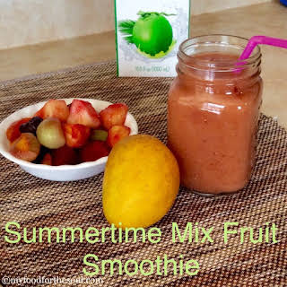 Summertime Mix Fruit Smoothie.
