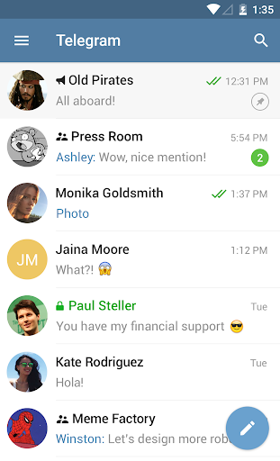 Telegram 5.4.0 screenshots 1