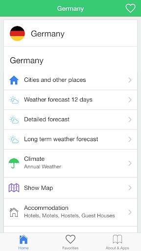 ドイツの天気予報 旅行者のためのガイド。
