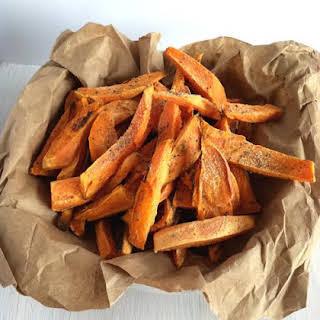 Healthy Oil Free Sweet Potato Frys Vegan.