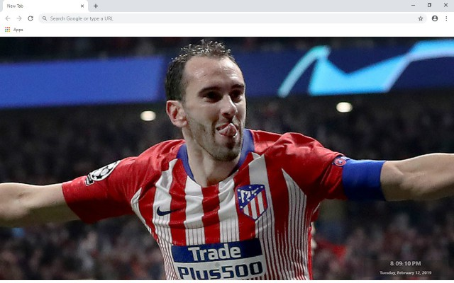 Diego Godín New Tab & Wallpapers Collection
