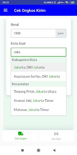 Cek Ongkir dan Cek Resi JNE, J&T, Pos (All ) 3.0 screenshots 6