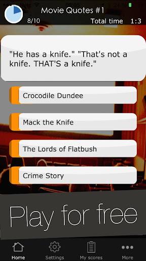 Movie Quotes Game - Quiz App