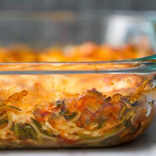Cheesy Baked Zucchini Noodle Casserole Recipe