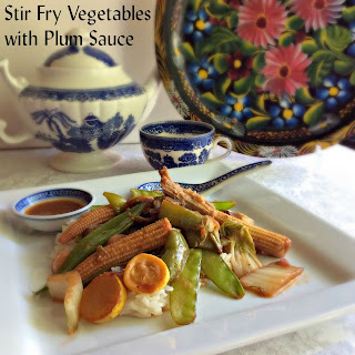 Stir Fry Vegetables with Plum Sauce.