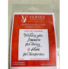 Verses Rubber Stamps - Hope For Tomorrow