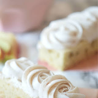Cinnamon Apple Cake with Freckled Frosting.