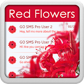 Red Flowers for GO SMS