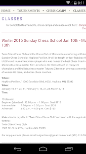 Twin Cities Chess Club- screenshot thumbnail