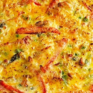 Cheese And Vegetable Frittata.