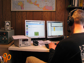Photo: Jason KJ4EOO on 40m SSB - I don't think he ever got up from the chair all day