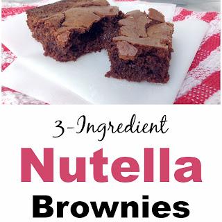 3-Ingredient Nutella Brownies Recipe