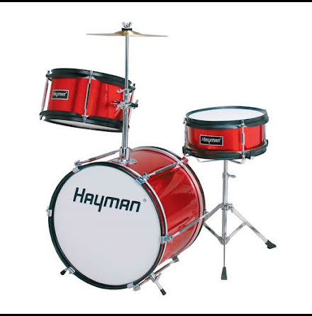 Hayman Minibarntrumset - HM-30MR - Metallic Red