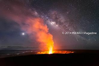 Photo: OUTDOORS CATEGORY, FINALIST. Halemaumau crater evening glow at Kilauea volcano's summit. Photo by Miles Morgan, Ridgefield, Washington.