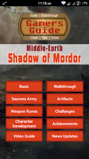 Guide for Shadow of Mordor