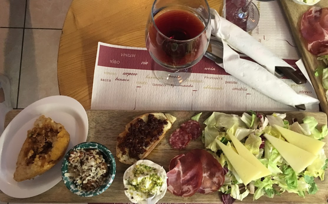 Cheese, meat, and antipasto platter from Taverna Giudecca
