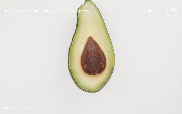 Avocado Wallpaper HD New Tab Theme