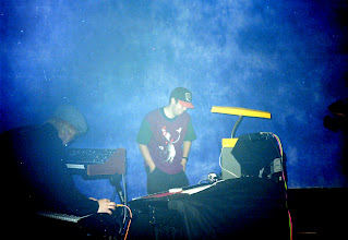 Photo: Ande and Lee (8E38) live at the Electronica event, The Dome, Brisbane. Photo by Dennis Remmer.