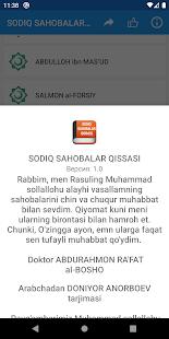 Download SODIQ SAHOBALAR QISSASI For PC Windows and Mac apk screenshot 4