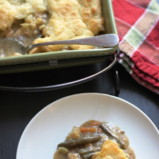 Turkey Pot Pie with Easy Biscuit Topping