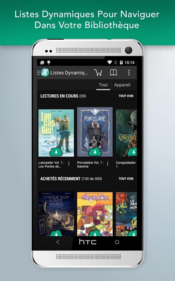 Comics– Capture d'écran