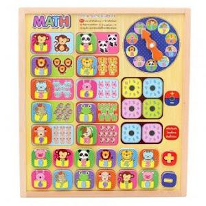Tabla educativa cu puzzle magnetic, 24 piese, Cat este ceasul, 171BZ