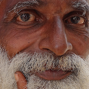 Man in India by Johann Pall Valdimarsson - People Portraits of Men ( face, people )