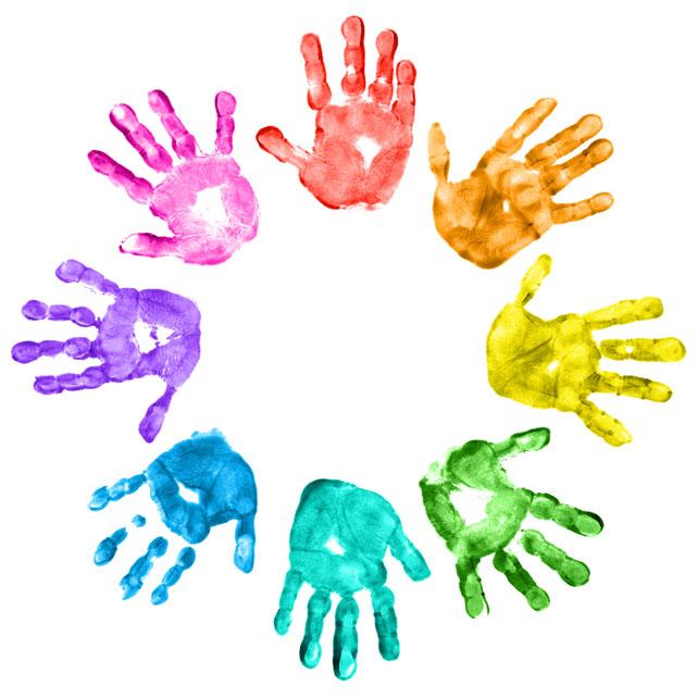 Image result for handprint circle