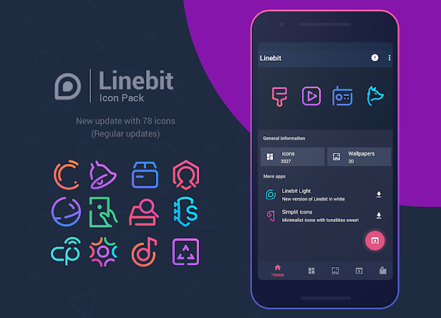 Download APK: Linebit – Icon Pack v1.4.7 [Patched]