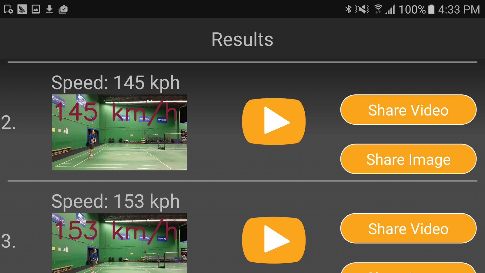 LingBu Badminton ShuttleSpeed- screenshot