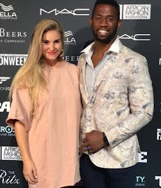 Springbok Captain Siya Kolisi and his wife Rachel.