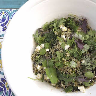 Quinoa Salad With Roasted Poblanos and Black Beans.