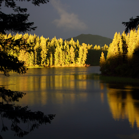McKinley Lake, Horsefly, BC, Canada by Reinilda Sissons - Landscapes Waterscapes ( #garyfongdramaticlight, #wtfbobdavis )