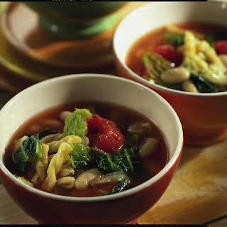 Savoy Cabbage and Italian Bean Soup.