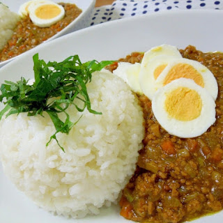 Japanese Style Keema Curry with lots of mushrooms and vegetables