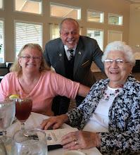 Photo: DeBary Mayor Bob Garcia with Debbie and Dorrie Larson