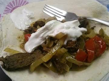 Leftover-Steak Steak Fajitas