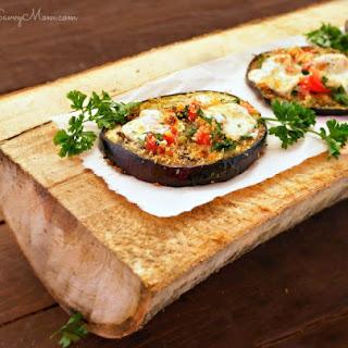 Bruschetta Topped Roasted Eggplant