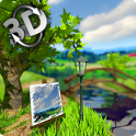 Parallax Nature: Summer Day 3D Gyro Wallpaper icon