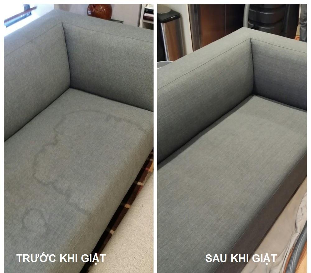 Sự khác biệt giữa ghế sofa trước và sau khi được giặt