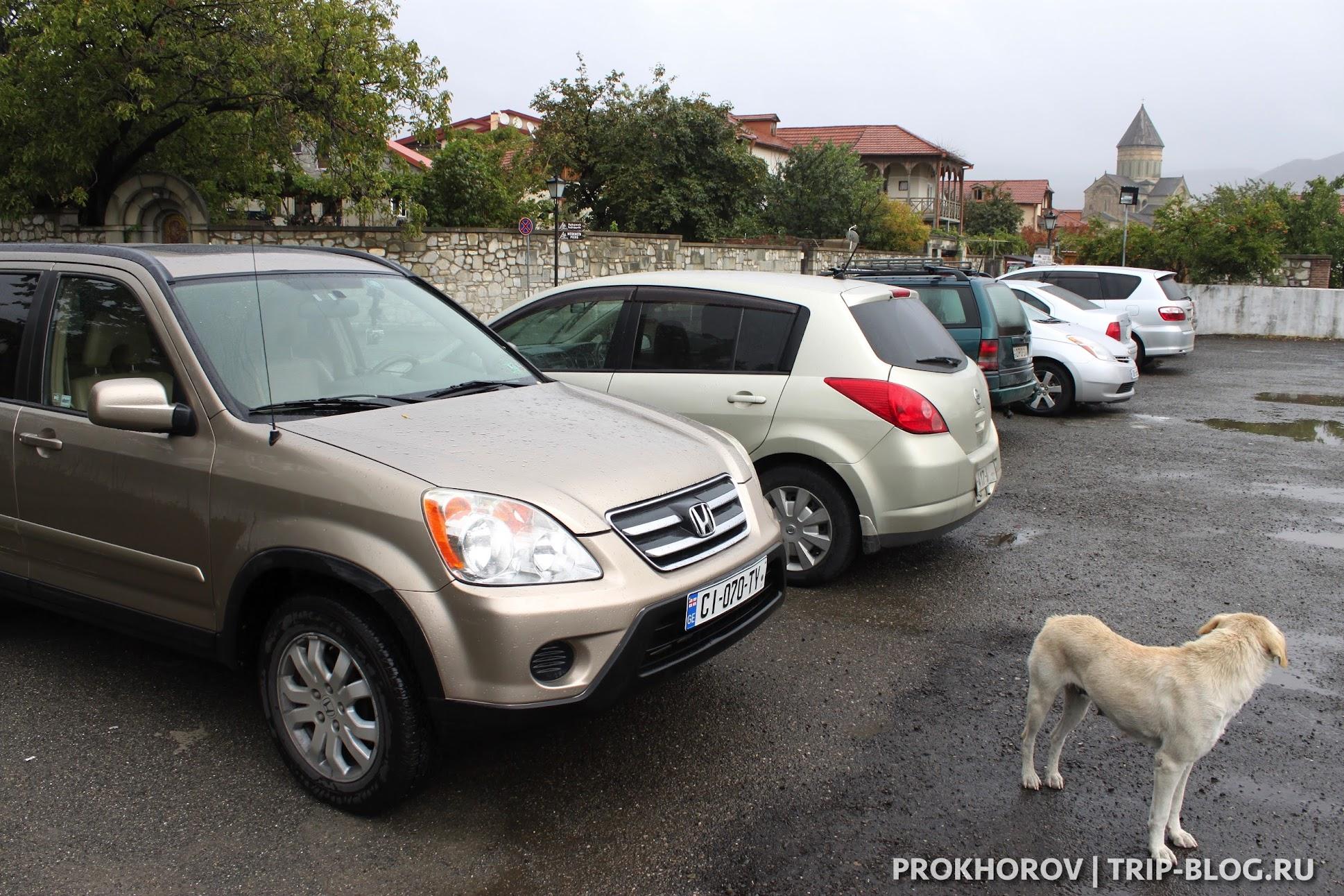 парковка в мцхета