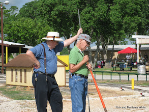 Photo: Claude Brown and Bob Jackson at Yellow Board for a switch.  HALS 2009-0620