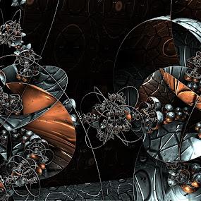 Dark Flowers by Ricky Jarnagin - Illustration Abstract & Patterns ( abstract, ricky jarnagin, mandelbulb, dsynegrafix, 3d art, fractal )