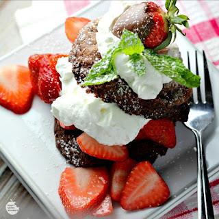 Triple Chocolate Strawberry Shortcake