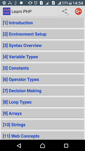 Learn PHP Programming screenshot 1