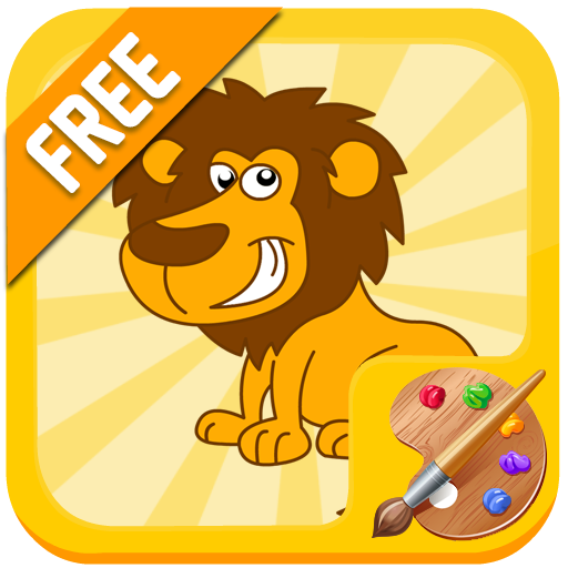 Coloring lion for kids