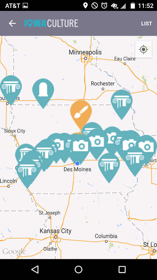 Iowa Culture App- screenshot