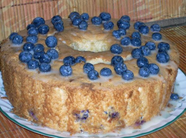 Blueberry Angel Food Cake With Citrus Glaze Recipe