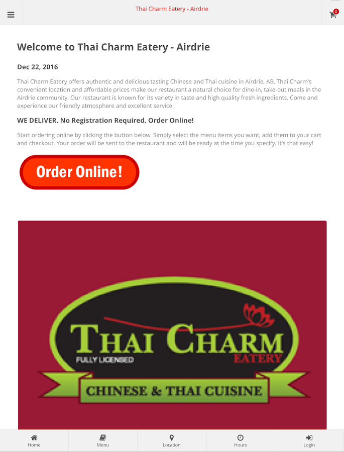 Thai Charm Eatery - Airdrie- screenshot